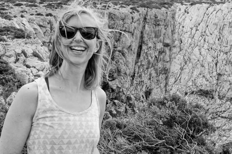 Mandy Len Catron im Urlaub